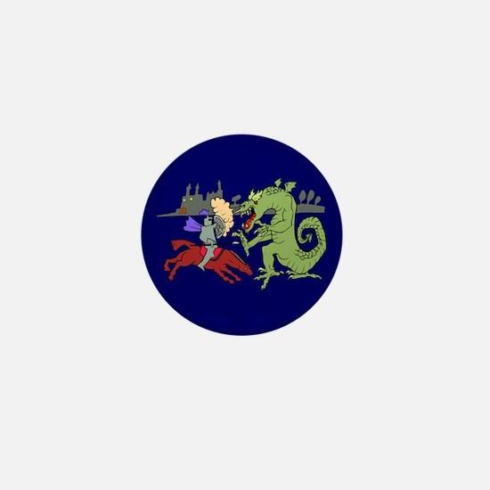 Fighting the Dragon Mini Button