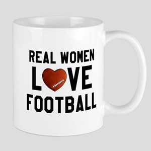 Real Women Love Football Mugs