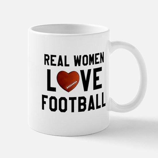 Real Women Love Football Mugs