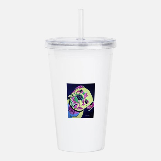Lily the Bull Dog Pop Acrylic Double-wall Tumbler