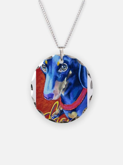 Dachshund Dog Art Portrait Necklace