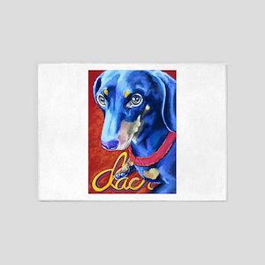 Dachshund Dog Art Portrait 5'x7'Area Rug