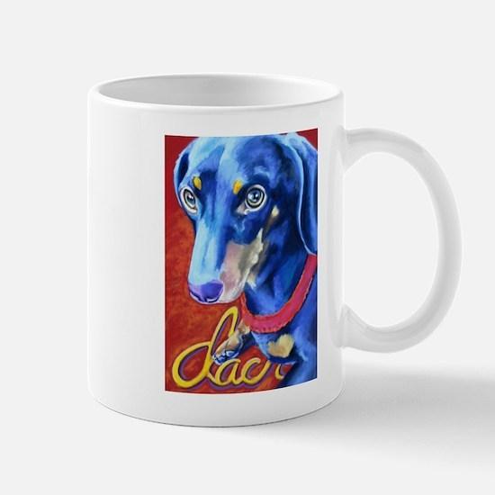 Dachshund Dog Art Portrait Mugs