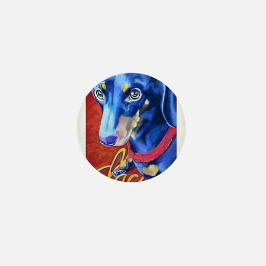 Dachshund Dog Art Portrait Mini Button