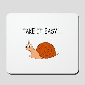 Take It Easy Cute Cartoon Snail Mousepad