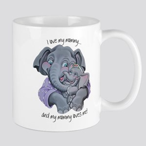 Mommy Elephant and Baby Mugs