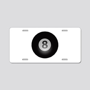 Billiards Eight Ball Aluminum License Plate