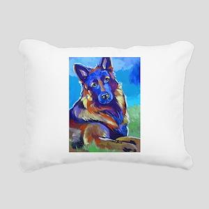 The Pop Art Shepherd Rectangular Canvas Pillow