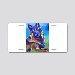 The Pop Art Shepherd Aluminum License Plate