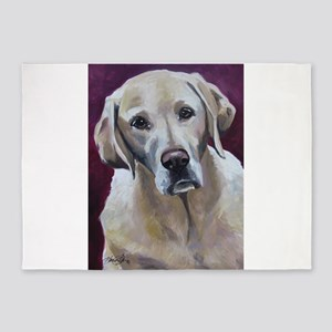 Tank the Yellow Labrador Retriever 5'x7'Area Rug