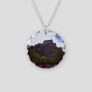 Edinburgh Castle Necklace Circle Charm