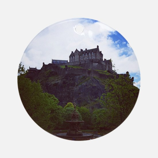 Edinburgh Castle Round Ornament
