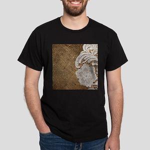 shabby chic burlap lace T-Shirt