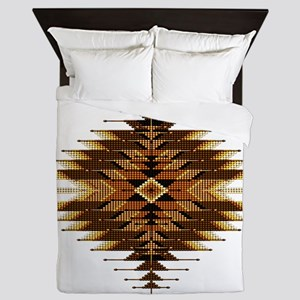 Native Style Orange Sunburst Queen Duvet