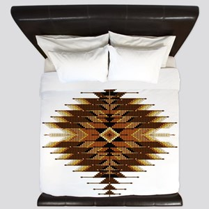 Native Style Orange Sunburst King Duvet