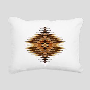 Native Style Orange Sunb Rectangular Canvas Pillow