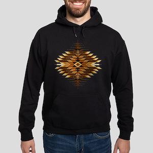 Native Style Orange Sunburst Hoodie (dark)