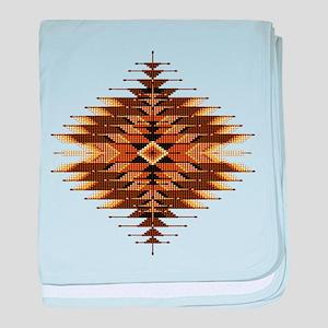 Native Style Orange Sunburst baby blanket