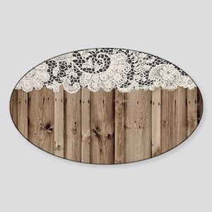 shabby chic lace barn wood Sticker