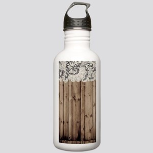 shabby chic lace barn Stainless Water Bottle 1.0L