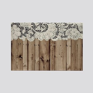 shabby chic lace barn wood Magnets