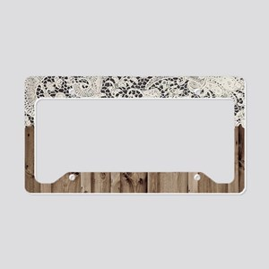 shabby chic lace barn wood License Plate Holder