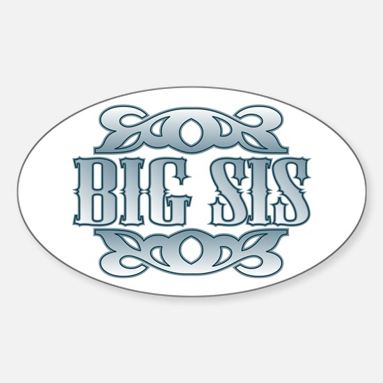 Big Sister Silver Buckle Oval Decal