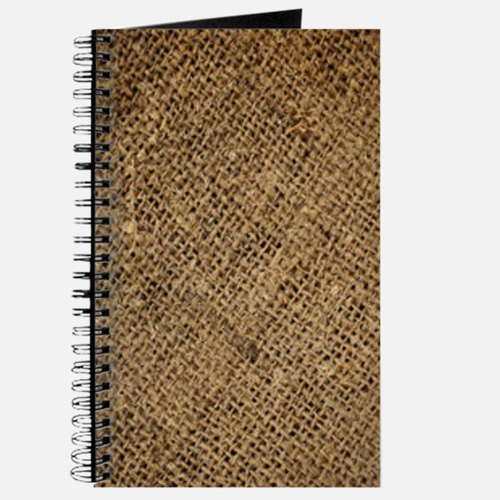 shabby chic country burlap Journal