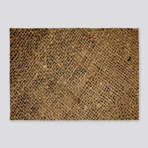 shabby chic country burlap 5'x7'Area Rug