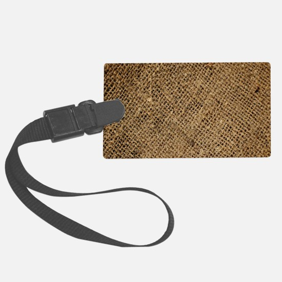 shabby chic country burlap Luggage Tag