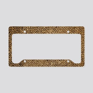 shabby chic country burlap License Plate Holder