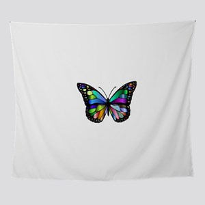 Prismatic Rainbow Winged Butterfly Wall Tapestry