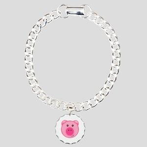 Cute Smiling Pink Country Farm Pig Bracelet