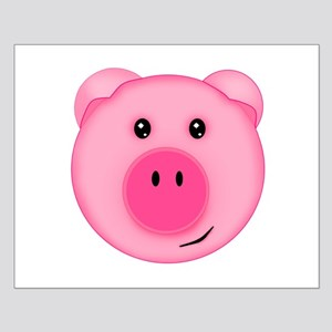 Cute Smiling Pink Country Farm Pig Posters
