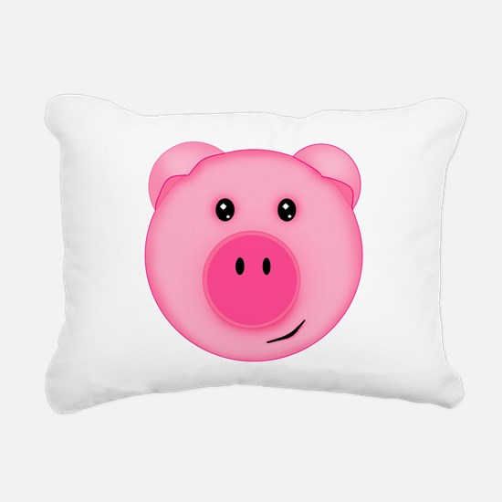 Cute Smiling Pink Country Farm Pig Rectangular Can