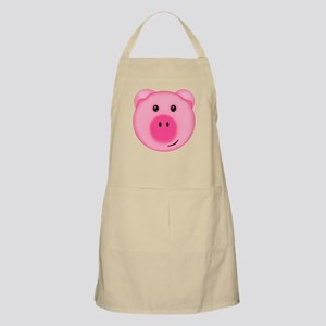 Cute Smiling Pink Country Farm Pig Apron
