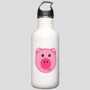Cute Smiling Pink Country Farm Pig Water Bottle