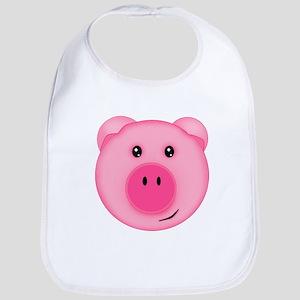 Cute Smiling Pink Country Farm Pig Bib