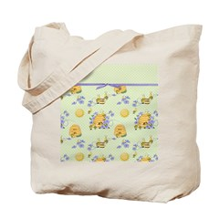 Bee Dance Floral Tote Bag
