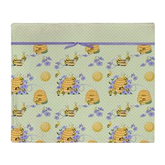 Bee Dance Floral Throw Blanket