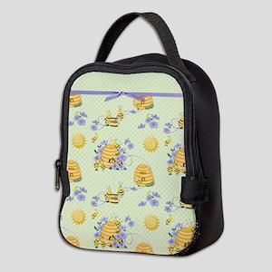 Bee Dance Floral Neoprene Lunch Bag