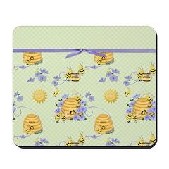 Bee Dance Floral Mousepad