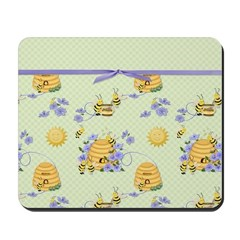 Bee Dance Floral Mousepad