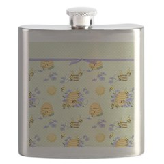 Bee Dance Floral Flask