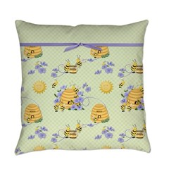 Bee Dance Floral Everyday Pillow