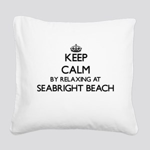 Keep calm by relaxing at Seab Square Canvas Pillow