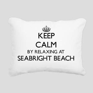 Keep calm by relaxing at Rectangular Canvas Pillow
