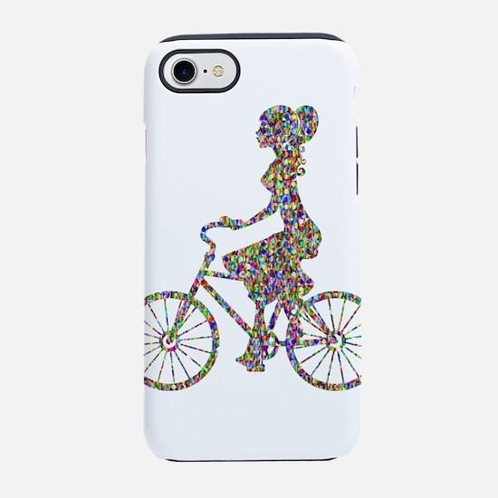 Chromatic Rainbow Woman Bicy iPhone 8/7 Tough Case