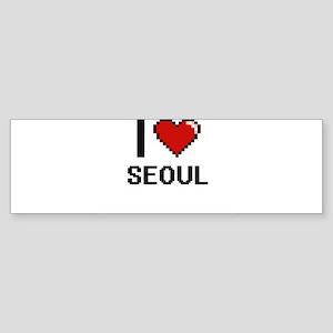 I love Seoul Digital Design Bumper Sticker