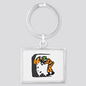 COAL MINER WORKING Keychains
